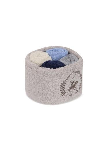 Beverly Hills Polo Club Polo El Kurulama Havlu Seti 30x30cm (4) Alinda - Rock v14 Mavi  Gri  Beyaz  Lacivert Mavi